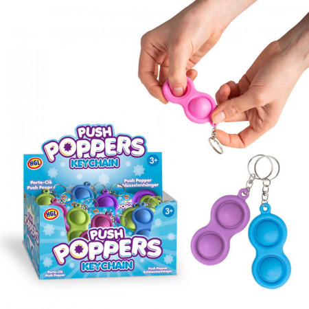 Push Popper Key Chain Assortment