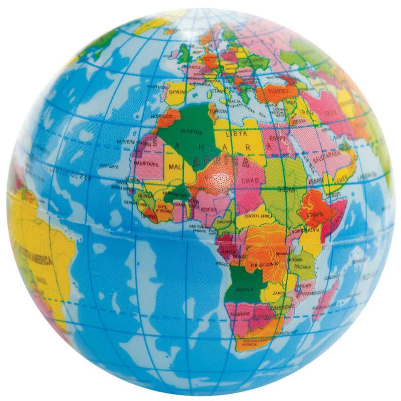 Globe terrestre en mousse
