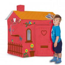 Colorie ta propre cabane de jeu en carton