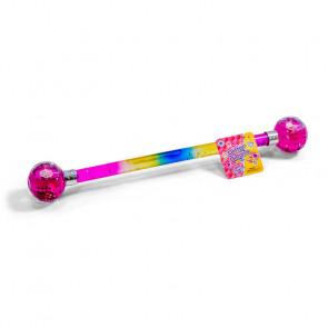Rainbow Glitter Water Baton 38Cm
