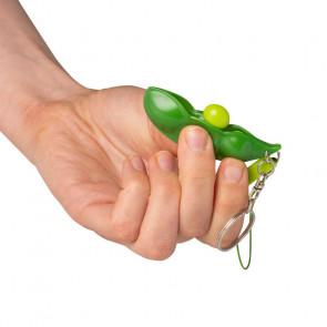 Pea Pod Push Popper Key Chain