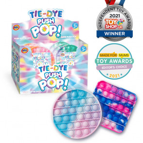 Tie Dye Push Poppers Toy Assorted
