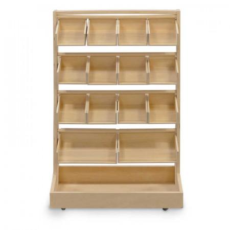 Présentoir en bois pour petits jouets bon marché