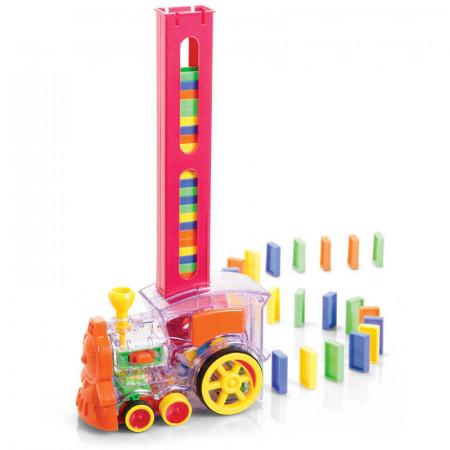 Train domino pose et joue