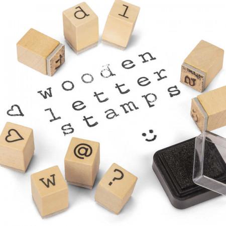 Tampons alphabet en bois