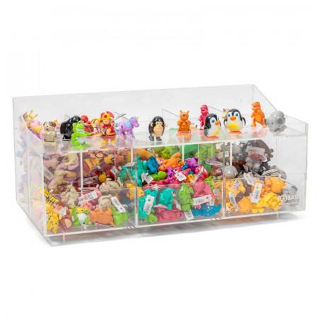 Présentoir en acrylique pour jouets mécaniques