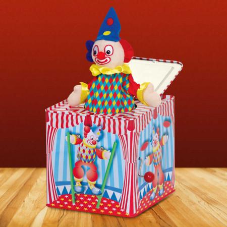 Boîte à musique surprise clown