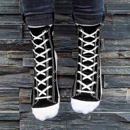 Chaussettes style baskets noires tailles 37 à 45