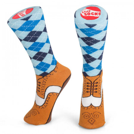 Silly Socks - Brogue (Size 5-11)
