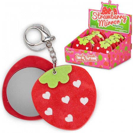 Strawberry Mirror Keyring