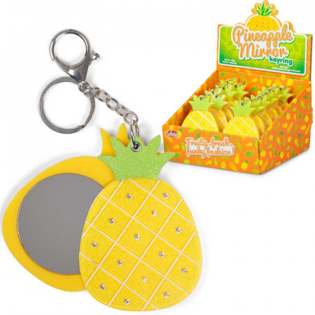 Pineapple Mirror Keyring