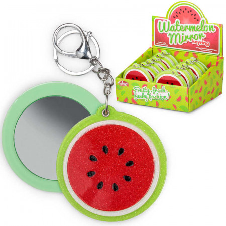 Watermelon Mirror Keyring