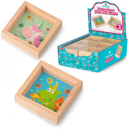 Wooden Unicorn And Dragon Mini Ball Game