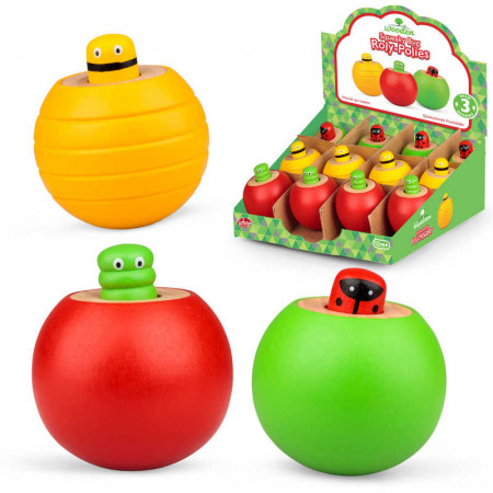 Wooden Squeaky Bug Roly-Polies