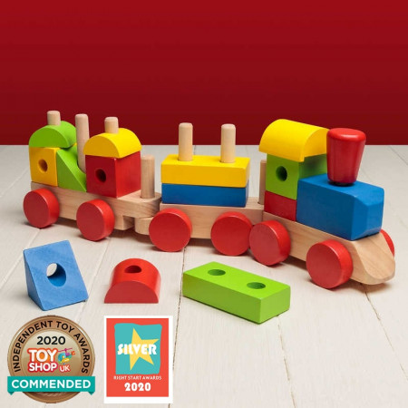 Wooden Stack 'N' Sounds Train