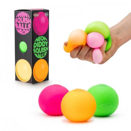 Neon Diddy Squish Balls - 3PK