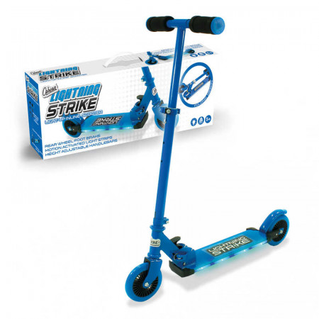 Lightning Strike Scooter With Step On Function Blue
