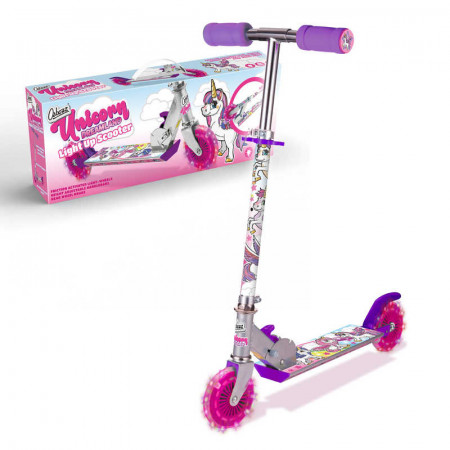 Unicorn Dreamland Scooter With 2 Light Up Wheels