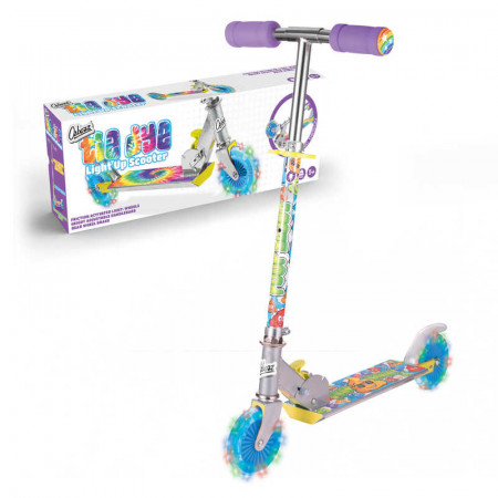 Tie Dye Scooter With Flashing Wheels Mail Boxed