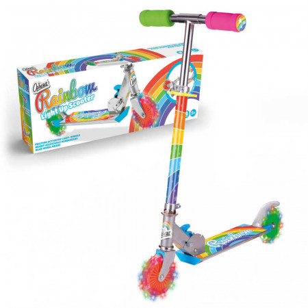 Rainbow Scooter With Flashing Wheels