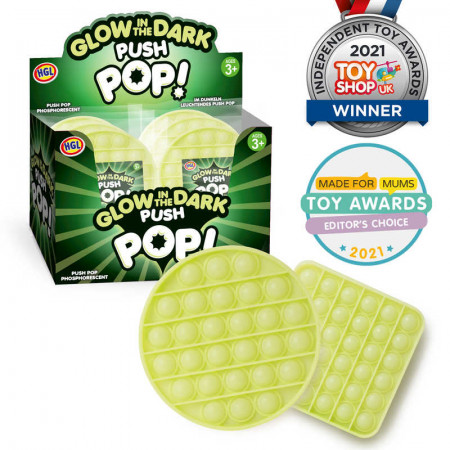 Glow In The Dark Push Poppers Toy Assorted