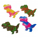 Push Popper Dinosaur - Assorted Tie Dye