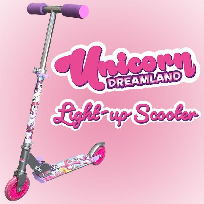 Light Up Unicorn Scooter